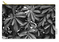 Nature Background, Green Leaves, Flowers In Natural Light And Sh Carry-all Pouch