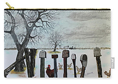 Carry-all Pouch featuring the painting Neighbors Meeting Place by Jack G Brauer
