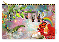 Carry-all Pouch featuring the digital art New Life by Dolores Develde