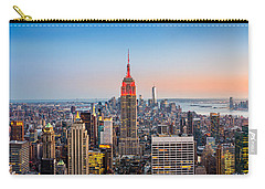 New York Skyline Panorama Carry-all Pouch by Mihai Andritoiu
