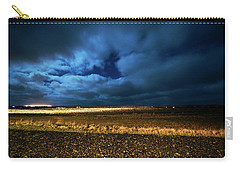 Carry-all Pouch featuring the photograph Icelandic Night  by Dubi Roman