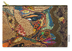 Carry-all Pouch featuring the tapestry - textile Nina Simone Fragmented- Mississippi Goddamn by Apanaki Temitayo M