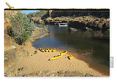 Carry-all Pouch featuring the photograph Nitmiluk Gorge Kayaks by Tony Mathews