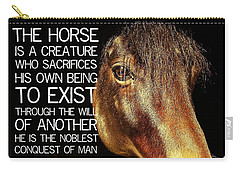Noble Morgan Stallion Quote Carry-all Pouch