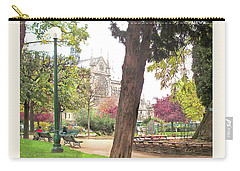Carry-all Pouch featuring the photograph Notre Dame From Square Rene Viviani by Felipe Adan Lerma