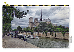 Carry-all Pouch featuring the photograph Notre Dame Paris by Lynn Bolt