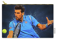 Novak Djokovic Carry-all Pouch by Semih Yurdabak