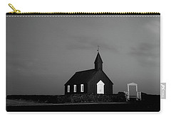 Old Countryside Church In Iceland Carry-all Pouch by Joe Belanger