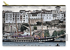 Old Port Mahon And Italian Sail Training Vessel Palinuro Hdr Carry-all Pouch