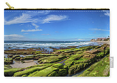 Carry-all Pouch featuring the photograph On The Rocky Coast by Peter Tellone