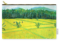 Carry-all Pouch featuring the painting On The Way To Ubud II Bali Indonesia by Melly Terpening
