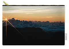 Carry-all Pouch featuring the photograph On Top Of The World by Colleen Coccia