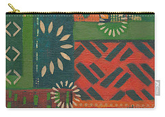 Orange Green Abstract Carry-all Pouch