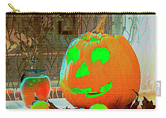 Orange Halloween Decoration Carry-all Pouch