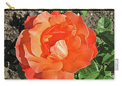Carry-all Pouch featuring the photograph Orange Rose by Stephanie Moore