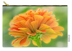 Orange Zinnia  Carry-all Pouch by Jim Hughes