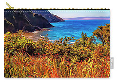 Oregon Coastal Waters Carry-all Pouch by Nancy Marie Ricketts