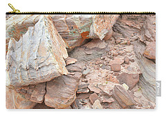 Carry-all Pouch featuring the photograph Ornate Sandstone In Valley Of Fire by Ray Mathis