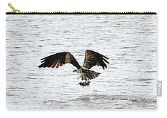 Osprey Fishing In The Afternoon Carry-all Pouch by Carol Groenen