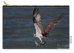 Osprey In Flight Carry-all Pouch by Meg Rousher