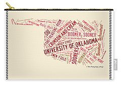 Ou Word Art University Of Oklahoma Carry-all Pouch