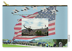 Carry-all Pouch featuring the digital art Our Memorial Day Salute by Daniel Hebard