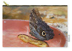 Carry-all Pouch featuring the photograph Owl Butterfly 2 by Paul Gulliver