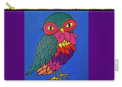 Owl Carry-all Pouch by Stephanie Moore