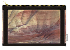 Carry-all Pouch featuring the photograph Painted Hills Triptych by Leland D Howard