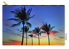 Carry-all Pouch featuring the photograph Palm Tree Skies by Scott Mahon