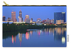 Panoramic Indianapolis Carry-all Pouch by Frozen in Time Fine Art Photography