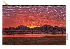 Carry-all Pouch featuring the photograph Panoramic Sunrise by Robert Bales