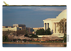 Panoramic View Of Jefferson Memorial Carry-all Pouch by Panoramic Images