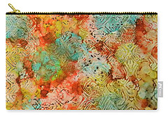 Carry-all Pouch featuring the painting Paprika Drift Ink #18 by Sarajane Helm