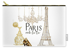 Paris - Ooh La La Fashion Eiffel Tower Chandelier Perfume Bottle Carry-all Pouch