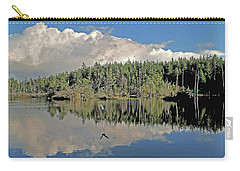 Carry-all Pouch featuring the photograph Pause And Reflect by Suzy Piatt