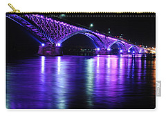 Peace Bridge Supporting Breast Cancer Awareness Carry-all Pouch by Michael Frank Jr