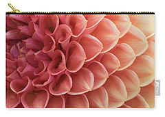 Peachy Dahlia Carry-all Pouch by Bonnie Bruno