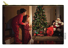 Peeking At Santa Carry-all Pouch by Diane Diederich