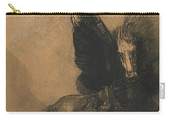 Pegasus And Bellerophon Carry-all Pouch by Odilon Redon
