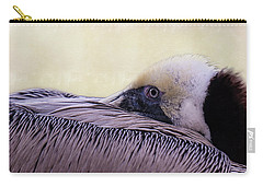 Carry-all Pouch featuring the photograph Pelican Connection 2 by Louise Lindsay