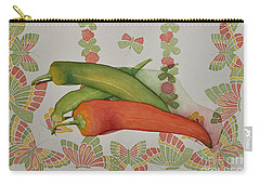 Peppers And Butterflies Carry-all Pouch