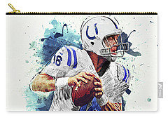 Peyton Manning Carry-all Pouch by Taylan Apukovska