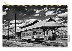 Carry-all Pouch featuring the photograph Philadelphia Trolley by Paul W Faust - Impressions of Light