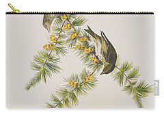 Pine Finch Carry-all Pouch by John James Audubon