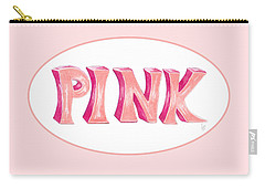 Carry-all Pouch featuring the drawing Pink by Cindy Garber Iverson