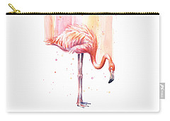 Pink Flamingo - Facing Right Carry-all Pouch