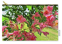 Carry-all Pouch featuring the photograph Pink Flowers by Stephanie Moore