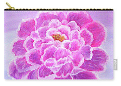 Carry-all Pouch featuring the painting Pink Peony by Sonya Nancy Capling-Bacle