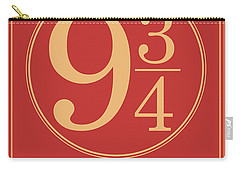 Platform Nine And Three Quarters - Harry Potter Wall Art Carry-all Pouch